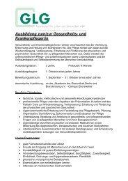 Ausbildung zum/zur Gesundheits- und Krankenpfleger/in - GLG ...