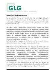 Medizinische/r Fachangestellte/r - GLG Gesellschaft für Leben und ...