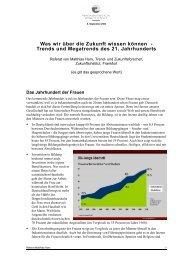 Trends und Megatrends des 21. Jahrhunderts
