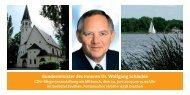 Bundesminister des Inneren Dr. Wolfgang Schäuble - Dr. Tamara ...