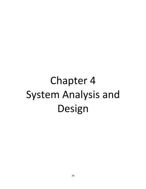 Chapter 4 System Analysis And Design Dspace Um