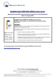 Insights into IFRS 8th Edition 2011/2012 - Bloomsbury Books Ltd