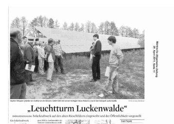 2011-04-29 Leuchtturm Luckenwalde.pdf - Stadt Luckenwalde
