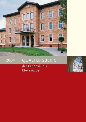 QUALITÄTSBERICHT 2004