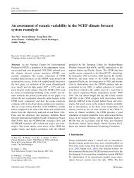 An assessment of oceanic variability in the NCEP climate forecast ...