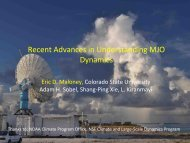 Recent advances in understanding MJO Dynamics - Climate ...