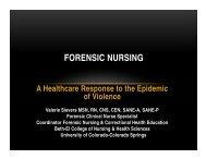 FORENSIC NURSING - Penrose-St. Francis