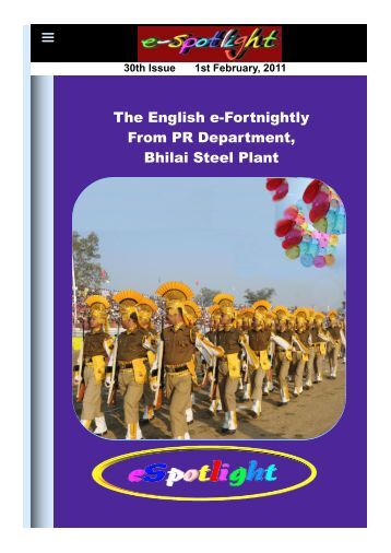 30th Issue 1st February, 2011 - ERP in Bhilai Steel Plant