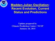 MJO Weekly Update - Climate Prediction Center - NOAA