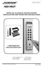 model dk-26 digital keypad system installation and operating ...