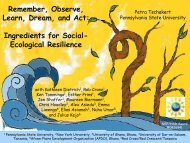 Ingredients for Social- Ecological Resilience