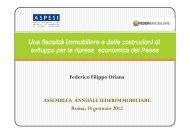Le slides dell'intervento del Presidente Oriana - Aspesi