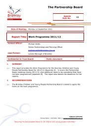 The Partnership Board - Bromley Partnerships