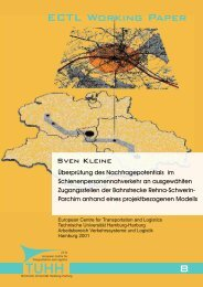 8 ECTL Working Paper - Institut für Verkehrsplanung und Logistik ...