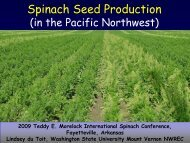 Spinach Seed Production - WSU Integrated Pest Management ...