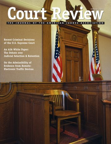 Complete Issue - American Judges Association