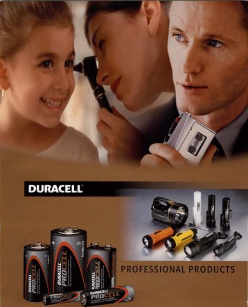 Duracell - Professional Battery Products - Full Line Catalog