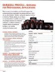 Duracell - Professional Battery Products - Full Line Catalog - Page 2