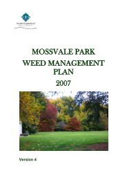 Mossvale Park Weed Management Plan 2007 - South Gippsland ...