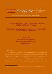lex rivi hiberiensis, derecho de asociación y gobernador provincial