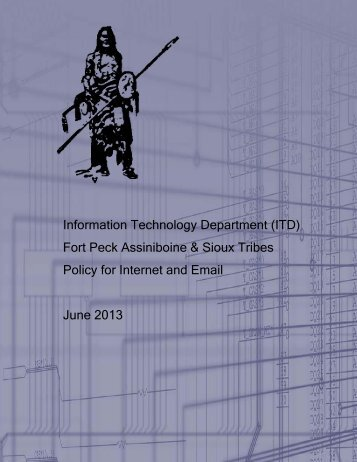 FPT Policy for Internet and Email - Fort Peck Assiniboine & Sioux ...