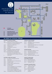 Lageplan der Franckeschen Stiftungen zu Halle