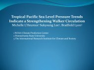 Tropical Pacific Sea Level Pressure Trends Indicate a Strengthening ...