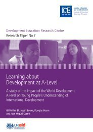 Learning about Development at A-Level - Institute of Education ...