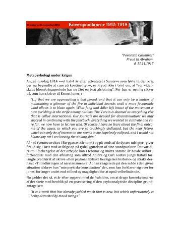 Korrespondancer 1915-1918 (27. november) - Freuds Agora