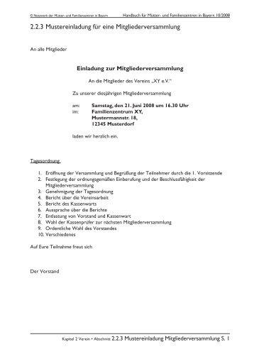 2.1.4 musterbrief: erstanmeldung zum vereinsregister, Einladung