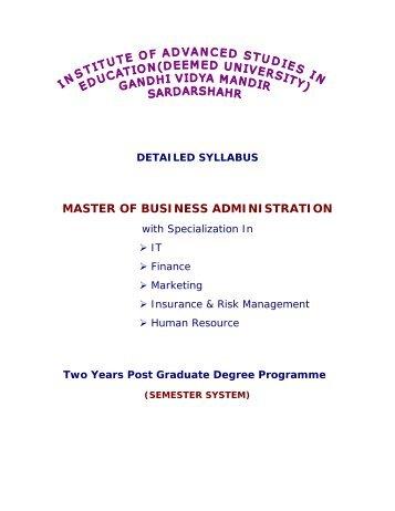 Master of Business Administration (MBA) - IASE University