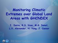 Monitoring Climatic Extremes over Global Land Areas with ... - NOAA