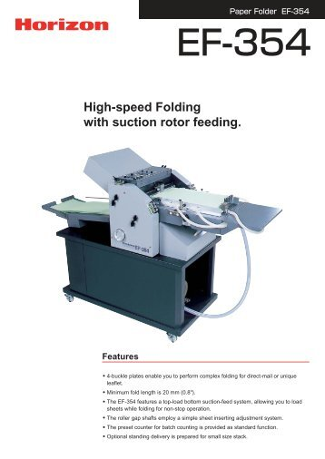 The EF-354 4-buckle folder is suitable for direct-mail or ... - Ferrostaal