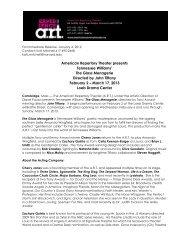 Program: Sleep No More [pdf] - American Repertory Theater