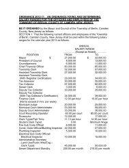 Ordinance 2012-11 Salary 2013 - Berlin Township