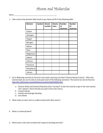 worksheet 16 hybridization when atoms bond to form molecules. Black Bedroom Furniture Sets. Home Design Ideas