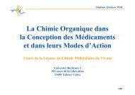 La Chimie Organique dans la Conception des ... - synthesis