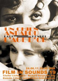 FILM IN SOUNDS 19 - Tilsiter Lichtspiele