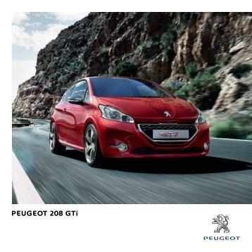 descargar catálogo - Peugeot 208 GTi