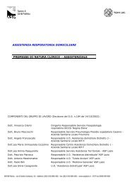 assistenza respiratoria domiciliare - Agenzia di Sanità Pubblica ...