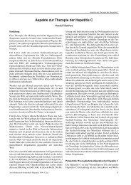 Aspekte zur Therapie der Hepatitis C