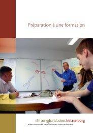 Préparation à une formation - Stiftung Fondation Battenberg