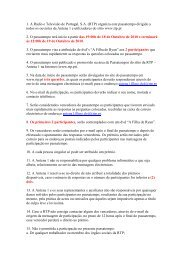 regulamento - RTP