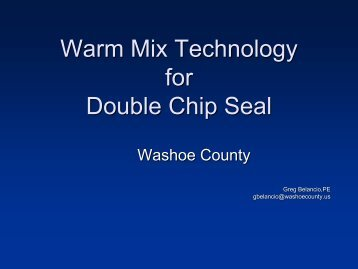 Warm Mix Technology for Double Chip Seals - Asphaltrubber.org