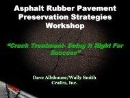 Asphalt Rubber Pavement Preservation ... - Asphaltrubber.org