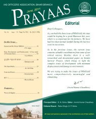 PRAYAAS June 2011 - IAS Association of Bihar