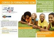 CORSO DI FORMAZIONE ECM - Inmp