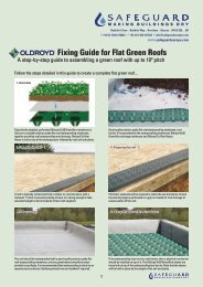 Fixing Guide for Flat Green Roofs - Safeguard Europe Ltd.