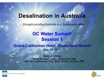 Desalination in Australia