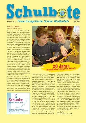 Schulbote April 2011 1-4 - Freie Evangelische Schule Weißenfels